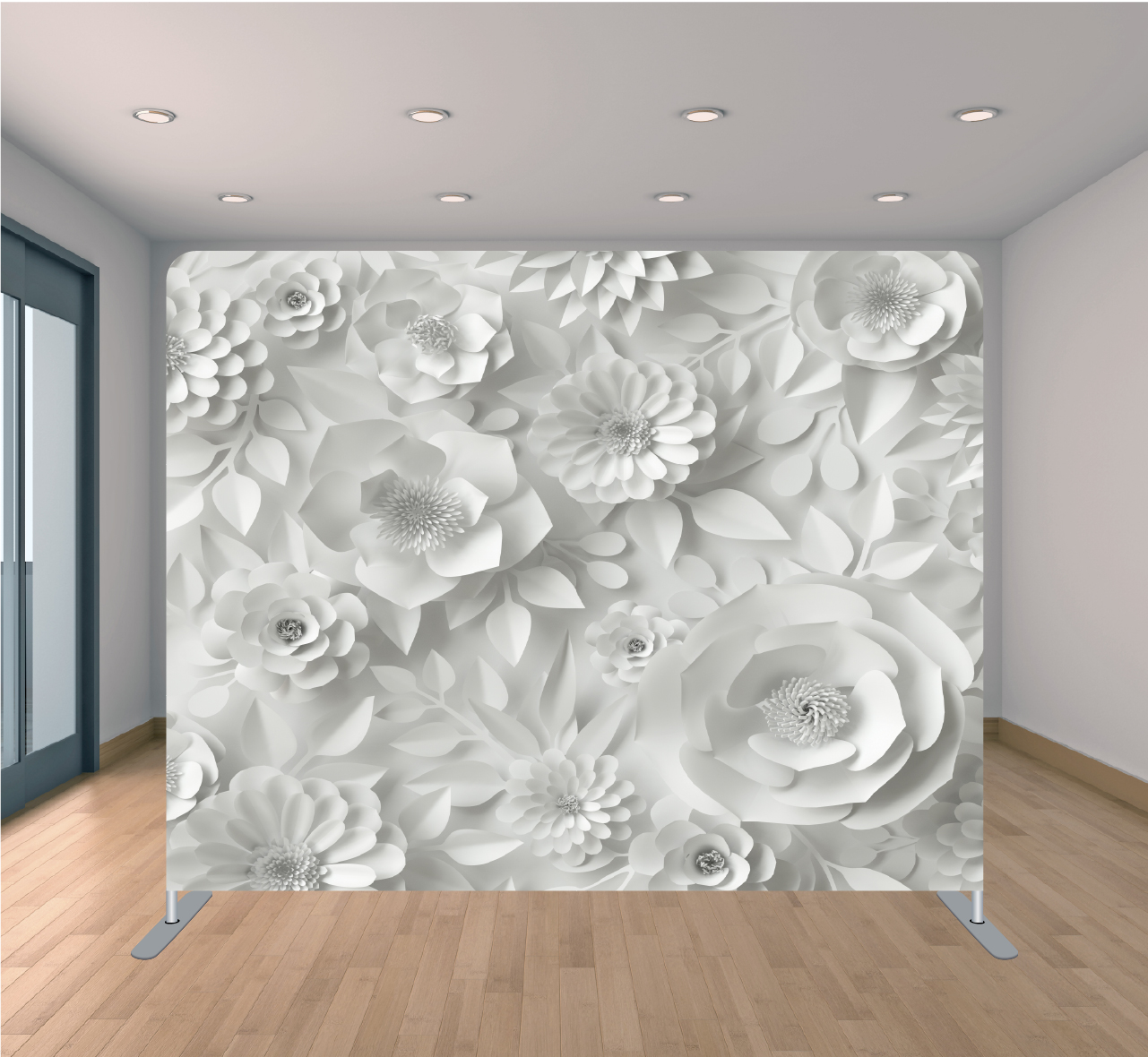 Paper Floral White-01